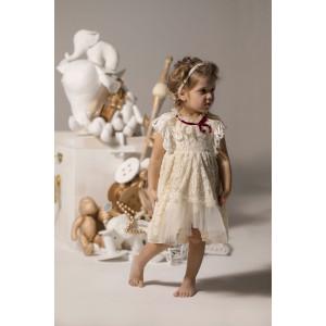 Ολοκληρωμένο πακέτο βάπτισηs με αυτό το φόρεμα Baby U Rock (FW18-19/500817) Mε το κουτί Ζητήστε προσφορά!!!!!