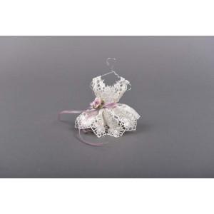 Μπομπονιέρα φορεματάκι (Κωδ.20.10.199-1.19) 11cm