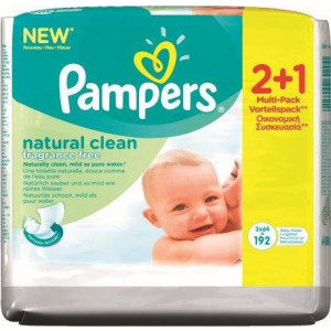 Pampers Natural Clean 2*64τμχ & Δώρο 1*64τμχ (660.001.020)