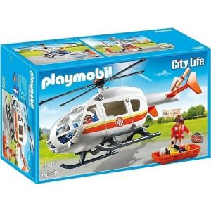 Playmobil, Ελικόπτερο Πρώτων Βοηθειών, 6686, narlis.gr