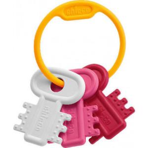 Chicco Κουδουνίστρα & Μασητικό Χρωματιστά Κλειδιά Ροζ (63216-10)
