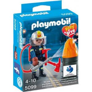 Playmobil Πυροσβέστης Play and Give 5099