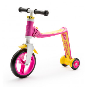 Scoot and Ride, Ποδήλατο Ισορροπίας & Πατίνι 2 σε 1 HighwayBaby Plus Pink/Yellow, 96194, narlis.gr