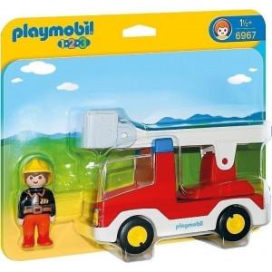 Playmobil Πυροσβέστης με Κλιμακοφόρο Όχημα 6967 #787.342.152, narlis.gr