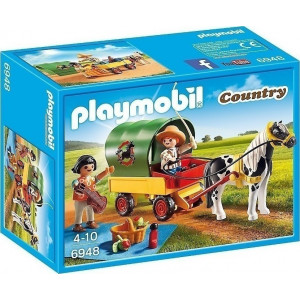 Playmobil Άμαξα με Πόνυ και Παιδάκια 6948 #787.342.150