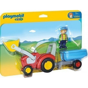 Playmobil Τρακτέρ με ρυμουλκούμενο 6964 #787.342.316, narlis.gr