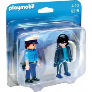 Playmobil Duo Pack Αστυνομικός και Ληστής 9218 narlis.gr