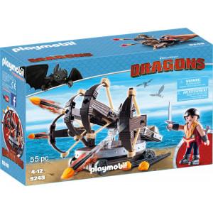 Playmobil Dragons: Ο Έρετ με Τετραπλή Βαλλίστρα & Βέλη Φωτιάς 9249 #787.342.325, narlis.gr
