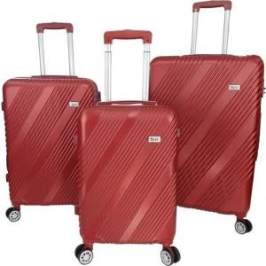 Βαλίτσα  Rain RB90667 Set 3x Red   Δωρεάν μεταφορικά!!!!!!