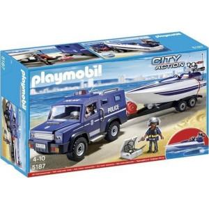 Playmobil 5187 City Action Αστυνομικό Όχημα με Ταχύπλοο 5187 #787.342.262