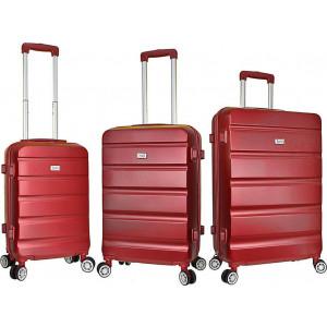 Βαλίτσα  Rain RB9068 Set x 3 Red  Δωρεάν μεταφορικά!!!!!!
