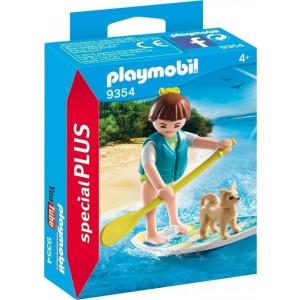 Playmobil Κορίτσι με Σανίδα SUP 9354 narlis