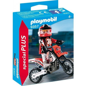 Playmobil Οδηγός Μηχανής Motocross 9357 narlis