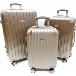 Βαλίτσα  Rain RB9024 Set x3  Champagne   Δωρεάν μεταφορικά!!!!!!