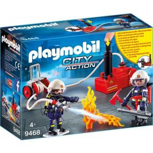 Playmobil Πυροσβέστες με Αντλία Νερού 9468, narlis.gr