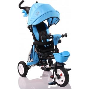 Moni Byox Τρίκυκλο Ποδηλατάκι Αναδιπλούμενο Flexy Lux Blue 3800146242756, narlis.gr