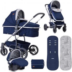 Lorelli Bertoni Combi Stroller S500 SET (Blue Travelling)