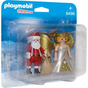 Playmobil Αη Βασίλης με Άγγελο Χριστουγέννων 9498 narlis.gr