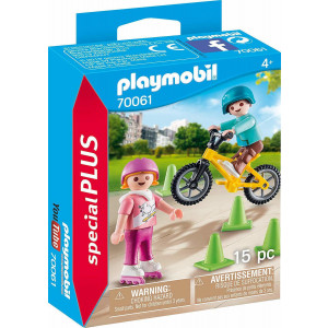 Playmobil Παιδάκια Με Πατίνια Και Ποδήλατο BMX 70061