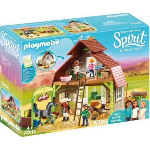 Playmobil Αχυρώνας με τη Λάκυ Πρου και Άμπιγκεϊλ 70118