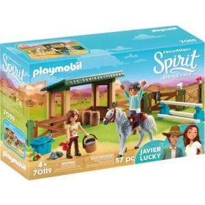 Playmobil Στίβος Ιππασίας με τη Λάκυ και το Χαβιέρ παιδικό παιχνίδι 70119, narlis.gr