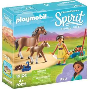 Playmobil Η Πρου με Άλογο και Πουλάρι 70122