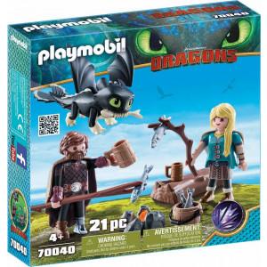 Playmobil Ο Ψάρης και η Άστριντ με ένα Δρακούλη 70040 Κωδ. 787.342.014