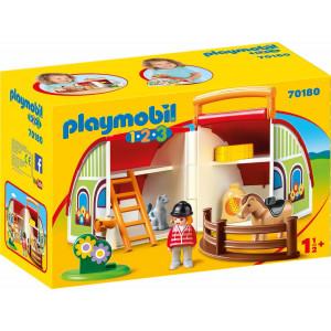 Playmobil Βαλιτσάκι Αχυρώνας 70180 αγόρι, κορίτσι παιχνίδι, narlis.gr
