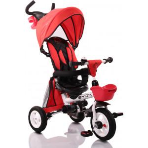 Moni Byox Τρίκυκλο Ποδηλατάκι Αναδιπλούμενο Flexy Lux Red 3800146242749,narlis.gr