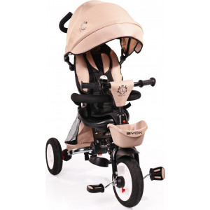 Moni Byox Τρίκυκλο Ποδηλατάκι Αναδιπλούμενο Flexy Lux Beige 3800146242725, narlis.gr