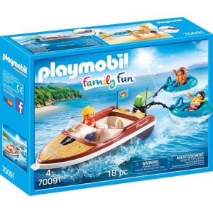 Playmobil Ταχύπλοο Σκάφος Με Φουσκωτές Κουλούρες (70091)