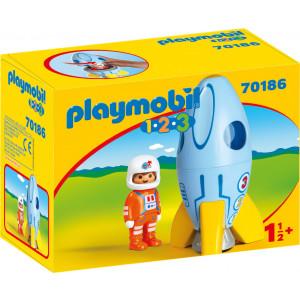Playmobil Αστροναύτης Με Πύραυλο (70186)