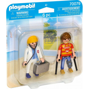 Playmobil Duo Pack Γιατρός Και Ασθενής 70079 narlis.gr