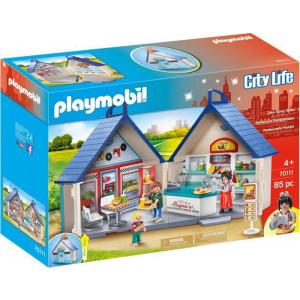 Playmobil, Βαλιτσάκι Εστιατόριο Fast Food, 70111, παιχνίδι, narlis.gr