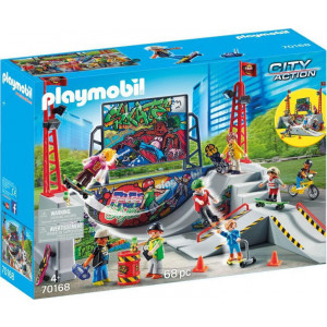 Playmobil, City Action Skatepark, Πίστα για Skateboards και Ποδήλατα, 70168, narlis.gr