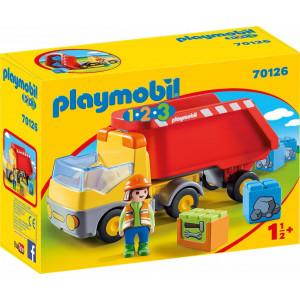 Playmobil Ανατρεπόμενο Φορτηγό Με Εργάτη 70126 #787.342.331, narlis.gr