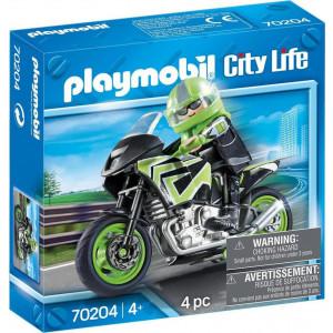 Playmobil Μοτοσυκλέτα Με Αναβάτη 70204 #787.342.296 narlis.gr