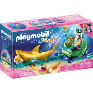 Playmobil Βασιλιάς Της Θάλασσας Με Άμαξα Καρχαρία 70097 #787.342.371, narlis.gr