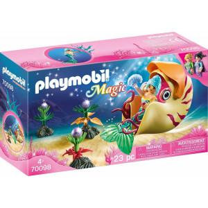 Playmobil Γοργόνα Με Θαλάσσιο Σαλιγκάρι Γόνδολα (70098)