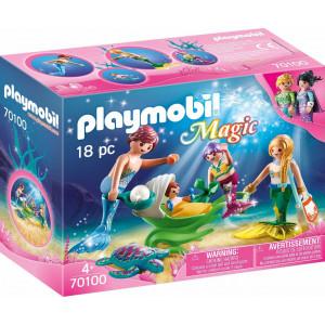 Playmobil Γοργονο-Οικογένεια Με Καροτσάκι-Κοχύλι (70100)