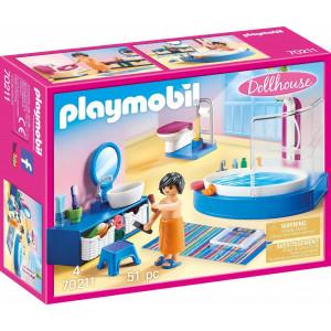 Playmobil Dollhouse - Πολυτελές Λουτρό με Μπανιέρα 70211, narlis.gr