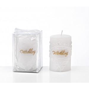 """Μπομπονιέρες Γάμου Κερί 202-8731 Αρωματικό με επιγραφή """"Wedding"""" σε Κουτί Boutlas"""