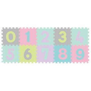 Babyono Αφρώδες Παζλ Δαπέδου Αριθμοί Παστέλ Χρώματα 10τμχ (BN274-02)