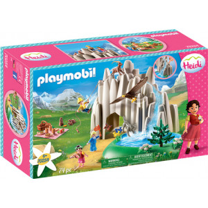 Playmobil Η Χάιντι, Ο Πέτερ & Η Κλάρα Στην Κρυστάλλινη Λίμνη (70254)