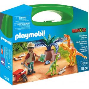 Playmobil Maxi Βαλιτσάκι Εξερευνητής Και Δεινόσαυροι 70108 #787.342.374, narlis.gr