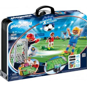 Playmobil Γήπεδο Ποδοσφαίρου Βαλιτσάκι 70244, narlis.gr