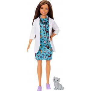 Barbie Κτηνίατρος Με Γατάκι (GJL63)