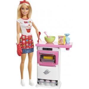 Barbie Εργαστήριο Ζαχαροπλαστικής (FHP57)