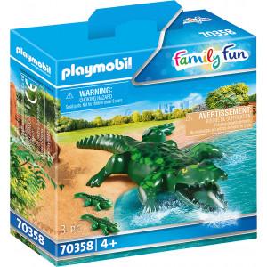 Playmobil Αλιγάτορας Με Τα Μωρά Του (70358)