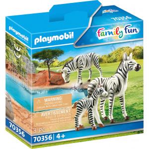 Playmobil Δύο Ζέβρες Με Το Μικρό Τους (70356)